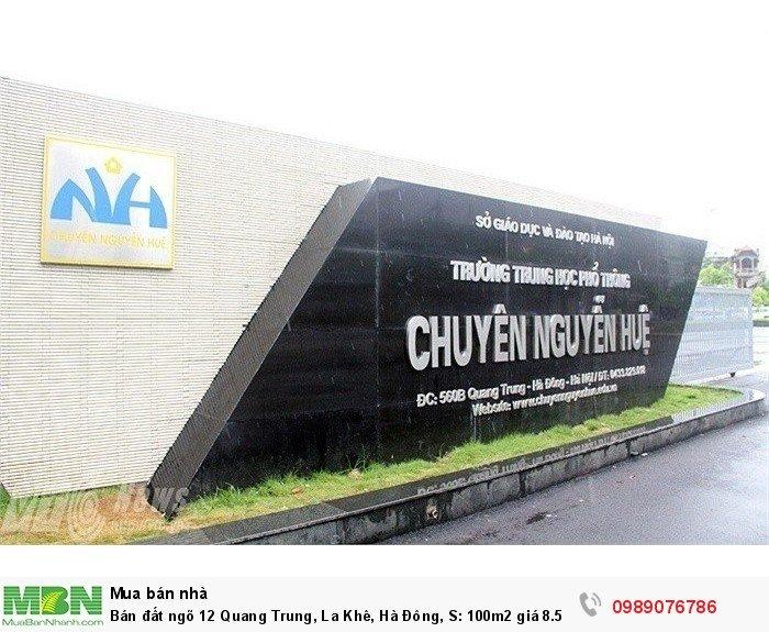 Bán đất ngõ 12 Quang Trung, La Khê, Hà Đông, S: 100m2 giá 8.5 Tỷ - đối diện chuyên Nguyễn Huệ