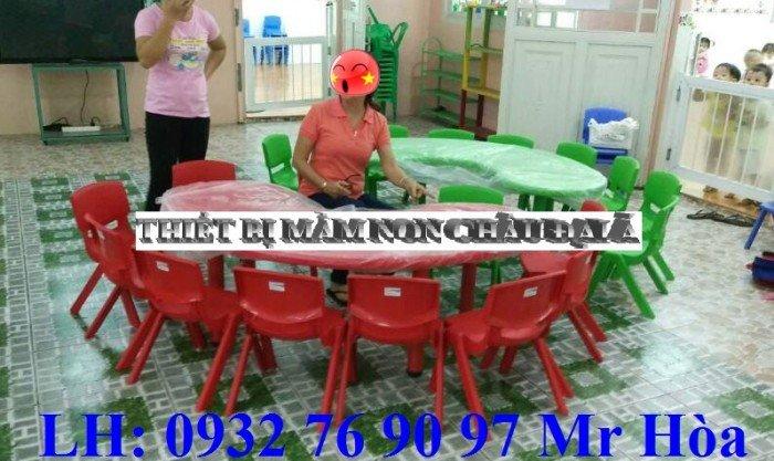 Bàn ghế trẻ em, bàn nhựa hình bán nguyệt cho bé mầm non nhập khẩu nguyên kiện7
