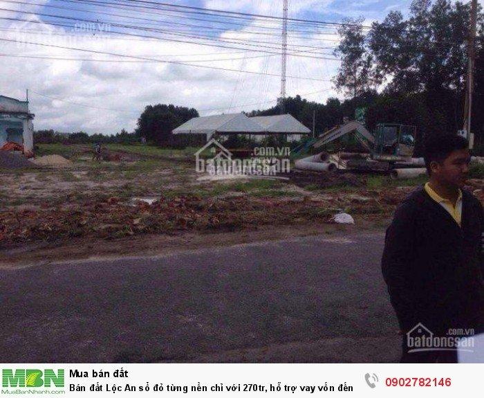 Bán đất Lộc An sổ đỏ từng nền chỉ với 270tr, hỗ trợ vay vốn đến 50%.