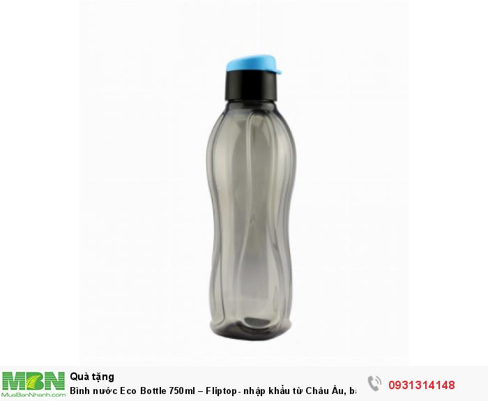 Bình đựng nước Eco Bottle 750ml – Fliptop- nhập khẩu từ Châu Âu, bảo hành trọn vòng đời sản phẩm1