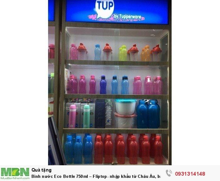 Bình đựng nước Eco Bottle 750ml – Fliptop- nhập khẩu từ Châu Âu, bảo hành trọn vòng đời sản phẩm3
