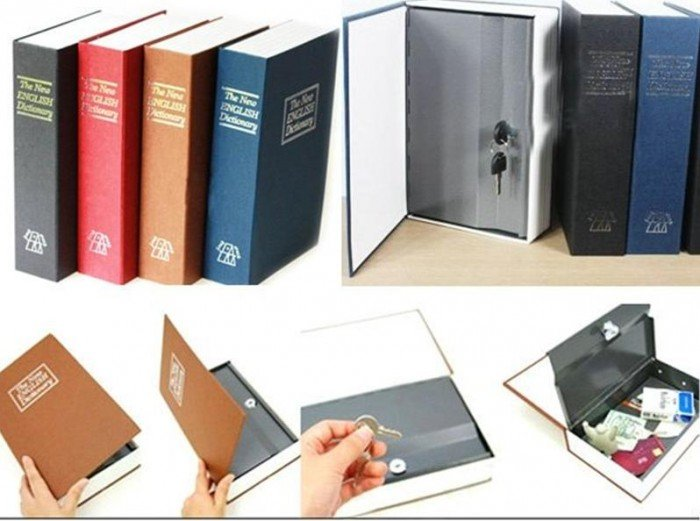Két sắt hình quyển từ điển ngụy trang