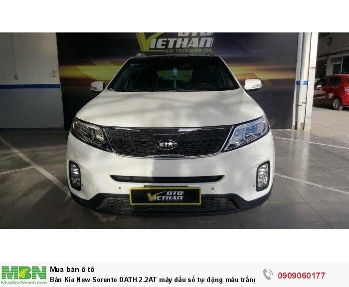 Bán Kia New Sorento DATH 2.2AT máy dầu số tự động màu trắng sản xuất 2014 biển Sài Gòn bản full