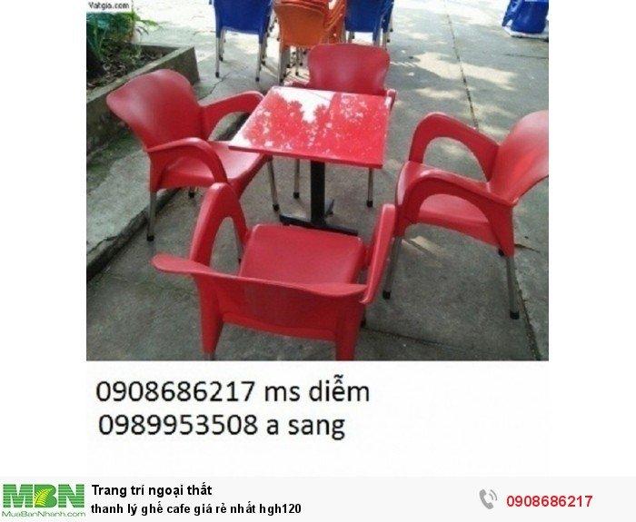 Thanh lý ghế cafe giá rẻ nhất hgh1200