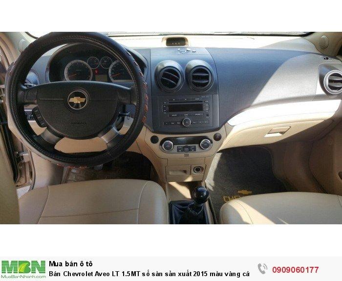 Bán Chevrolet Aveo LT 1.5MT số sàn sản xuất 2015 màu vàng cát biển Sài gòn