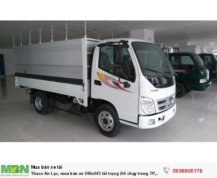 Thaco An Lạc, mua bán xe Ollin345 tải trọng 2t4 chạy trong TP, tặng 100% lệ phí trước bạ.