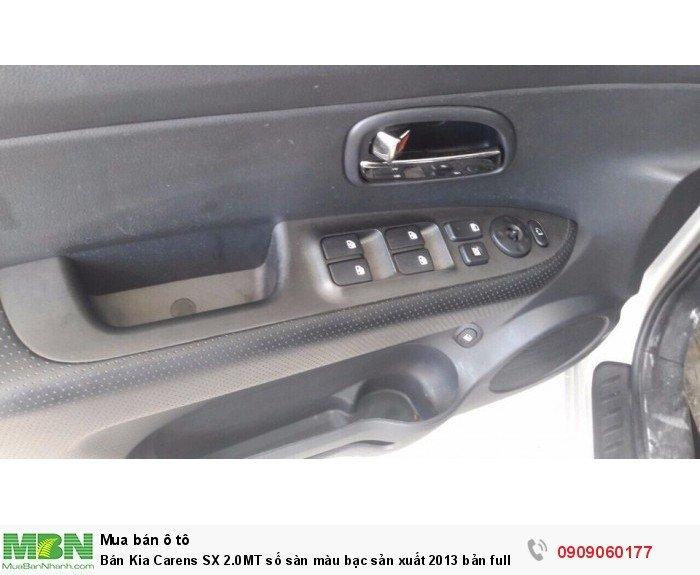 Bán Kia Carens SX 2.0MT số sàn màu bạc sản xuất 2013 bản full ôptions