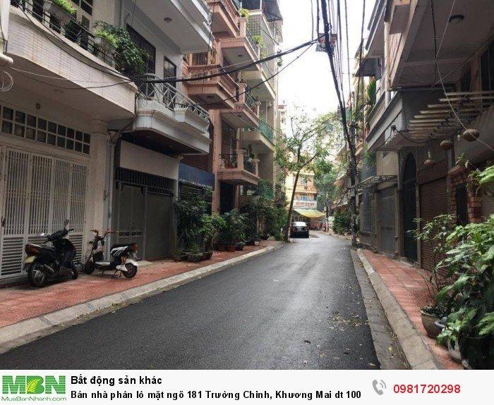 Bán nhà phân lô mặt ngõ 181 Trường Chinh, Khương Mai dt 100 m2 x 4 t