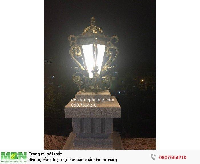 Đèn trụ cổng biệt thự, nơi sản xuất đèn trụ cổng