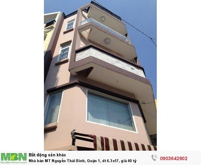 Nhà bán MT Nguyễn Thái Bình, Quận 1, dt 6.3x17