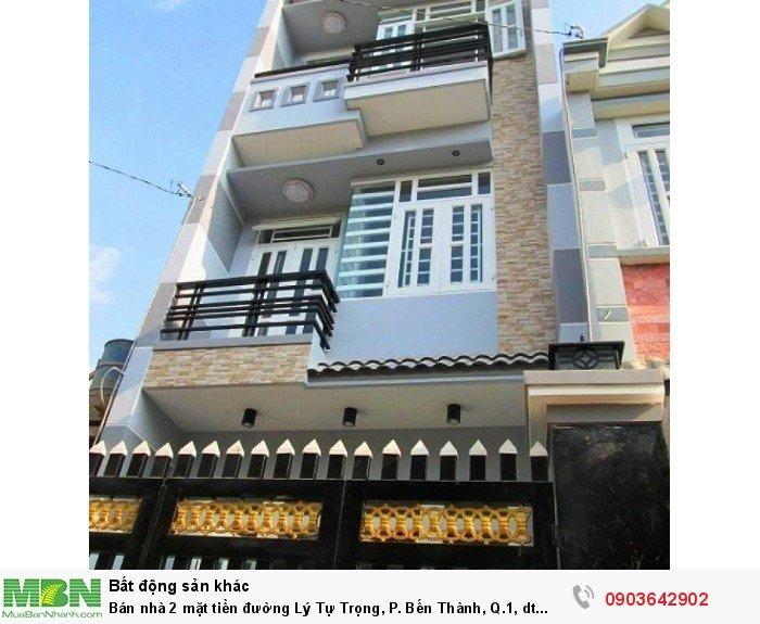 Bán nhà 2 mặt tiền đường Lý Tự Trọng, P. Bến Thành, Q.1, dt 4x20m, NH 8m
