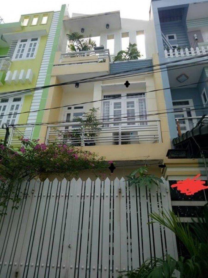 Bán nhà Lam Sơn, hẻm xe hơi, 38m, 2 lầu, 3 PN
