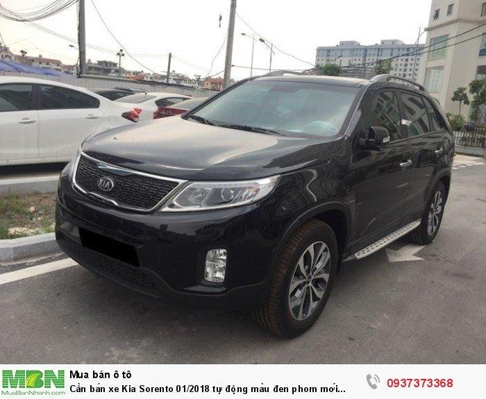 Cần bán xe Kia Sorento 01/2018 tự động màu đen phom mới đẹp