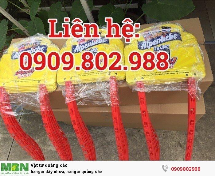 Hanger dây nhưa, hanger quảng cáo1