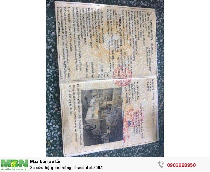 Xe tải cứu hộ giao thông Thaco đời 2007 6