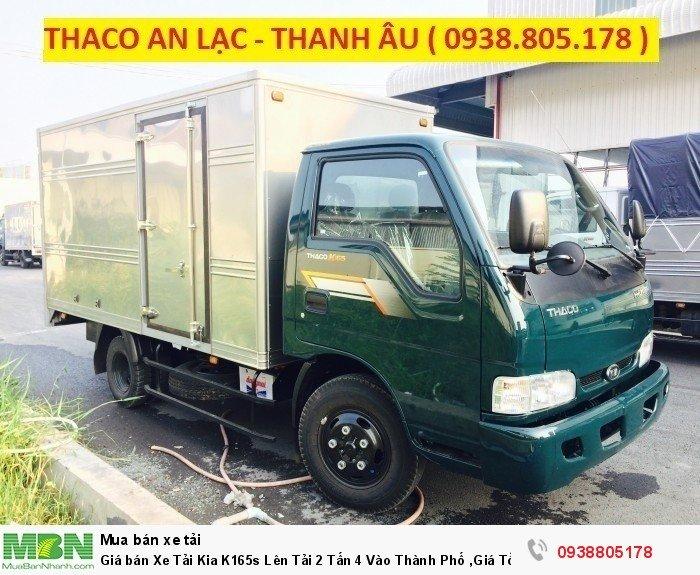 Giá bán Xe Tải Kia K165s Lên Tải 2 Tấn 4 Vào Thành Phố ,Giá Tốt Trả Trước Chỉ 120triệu, giá xe tải.