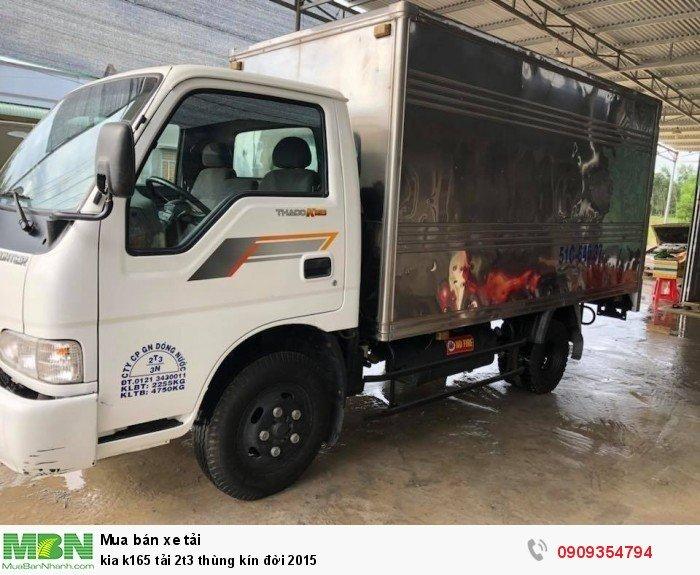 Kia k165 tải 2t3 thùng kín đời 2015 3