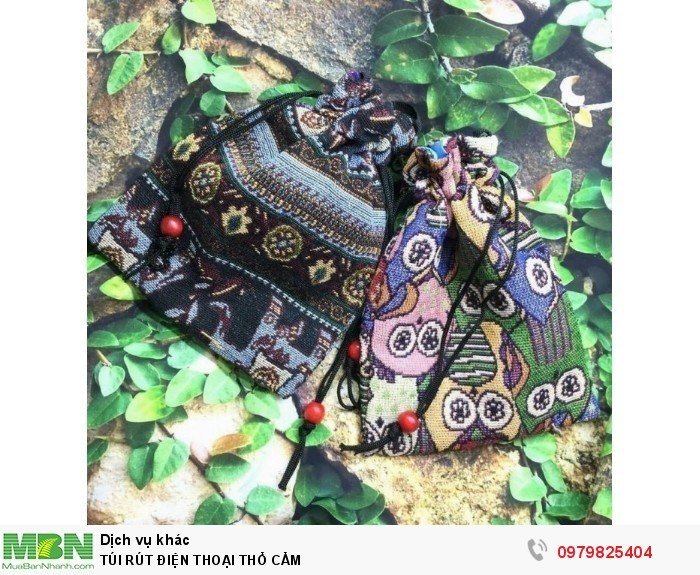 Túi rút điện thoại thổ cẩm