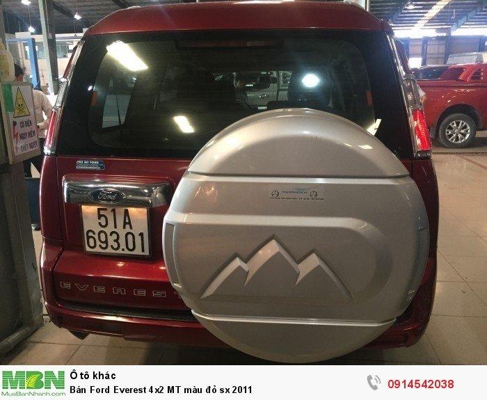 Bán Ford Everest 4x2 MT màu đỏ sx 2011 3