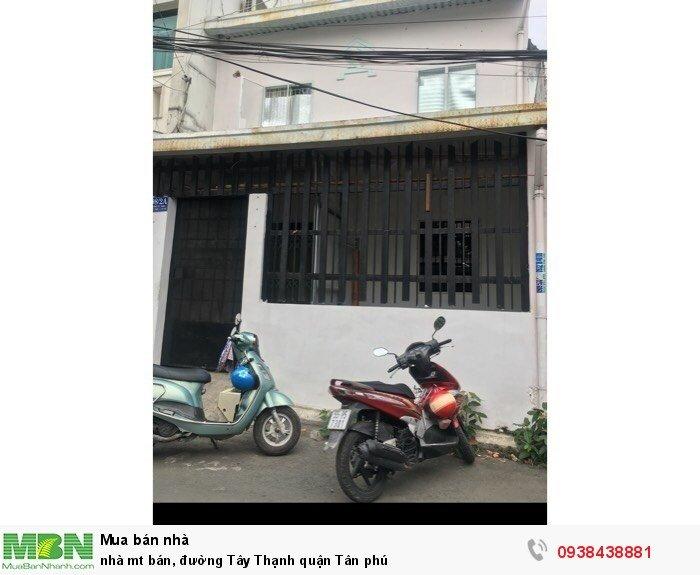 Nhà mt bán, đường Tây Thạnh quận Tân phú