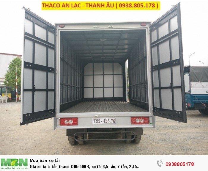 Giá xe tải 5 tấn thaco Ollin500B, xe tải 3,5 tấn, 7 tấn, 2,45 tấn. Hỗ trợ trả góp 75% giá trị xe 3