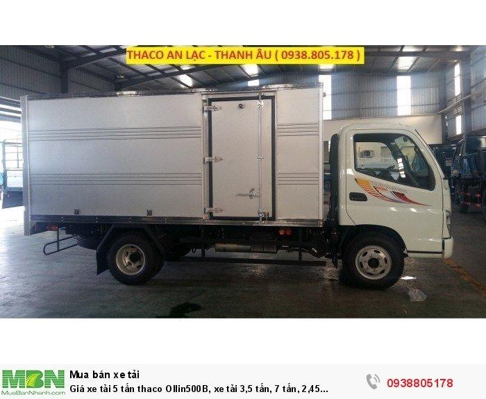 Giá xe tải 5 tấn thaco Ollin500B, xe tải 3,5 tấn, 7 tấn, 2,45 tấn. Hỗ trợ trả góp 75% giá trị xe 4