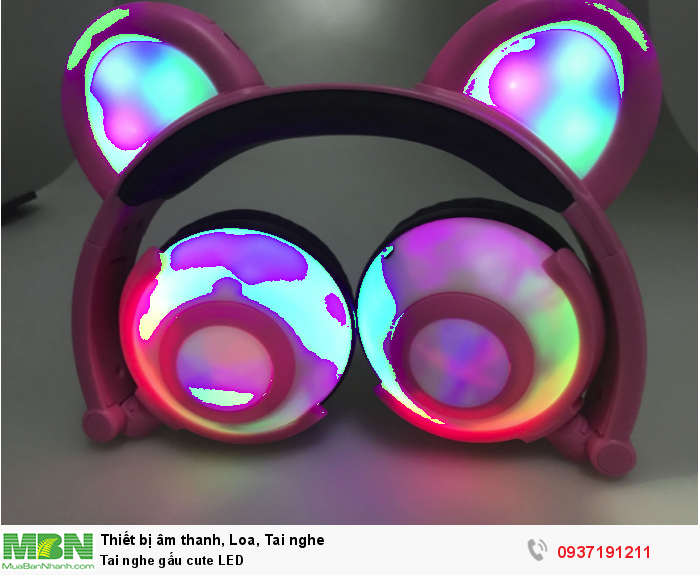 Headphone tai gấu cute for Girls - Beautiful Led for girls