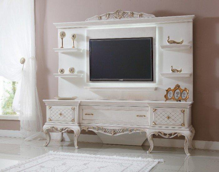 Kệ tivi phòng khách tân cổ điển | kệ trang trí nhập khẩu14
