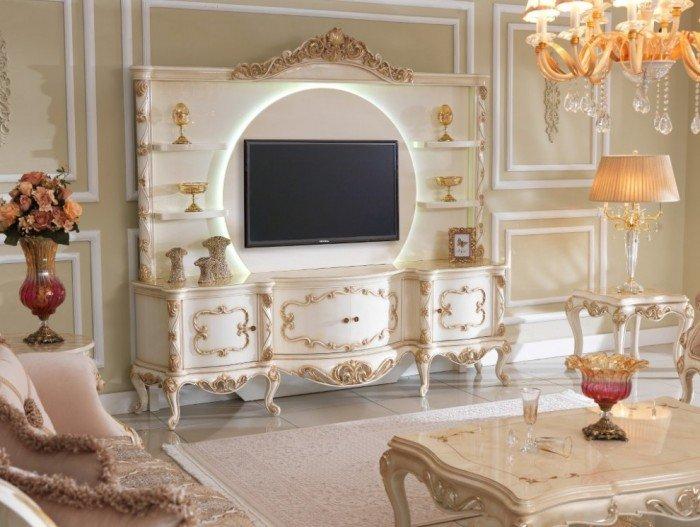 Kệ tivi phòng khách tân cổ điển | kệ trang trí nhập khẩu10