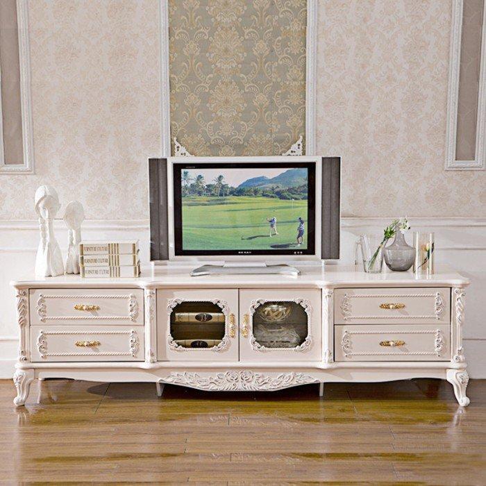 Kệ tivi phòng khách tân cổ điển | kệ trang trí nhập khẩu4
