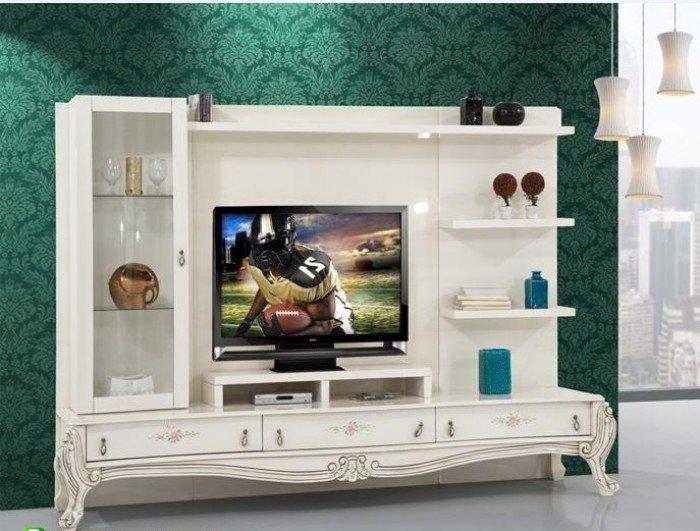 Kệ tivi phòng khách tân cổ điển | kệ trang trí nhập khẩu0