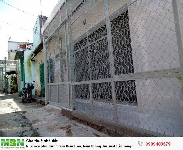 Nhà mới khu trung tâm Biên Hòa, hẻm thông 3m, mặt tiền 6m, 3tr/T