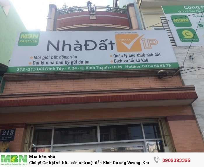 Chú ý! Cơ hội sở hữu căn nhà mặt tiền Kinh Dương Vương, Khu phố 1, Bình Tân giá tốt!