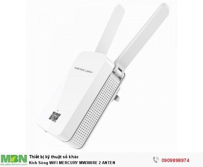 Kích Sóng WiFi MERCURY MW300RE 2 ANTEN0