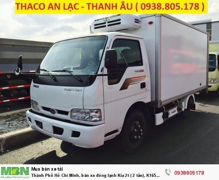 Thành Phố Hồ Chí Minh, bán xe đông lạnh Kia 2t ( 2 tấn), K165 đông lạnh 2t, xe tải đông lạnh.