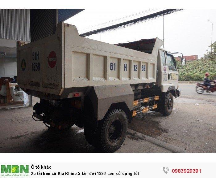 Xe tải ben cũ Kia Rhino 5 tấn đời 1993 còn sử dụng tốt