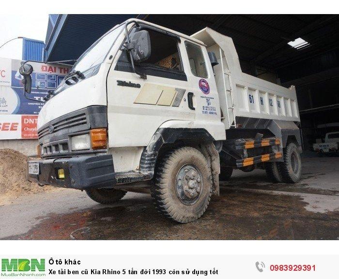Xe tải ben cũ Kia Rhino 5 tấn đời 1993 còn sử dụng tốt 4