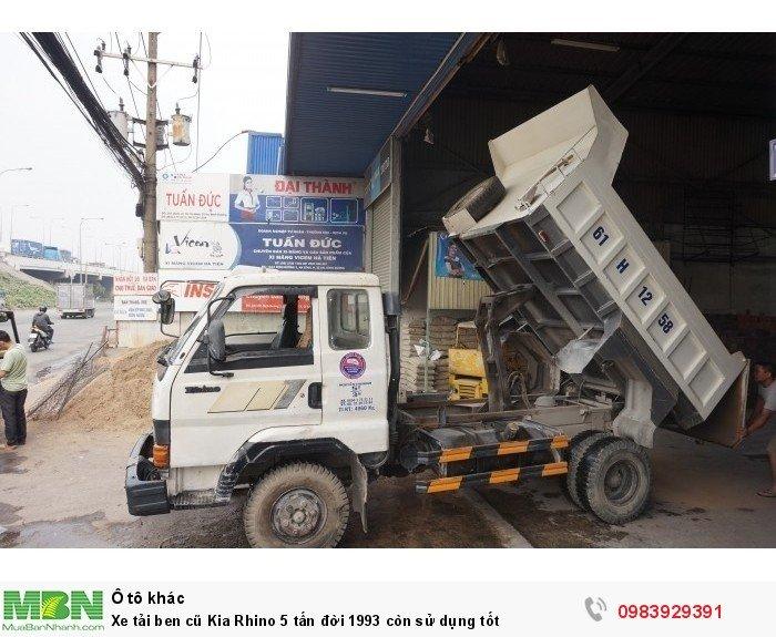 Xe tải ben cũ Kia Rhino 5 tấn đời 1993 còn sử dụng tốt 5