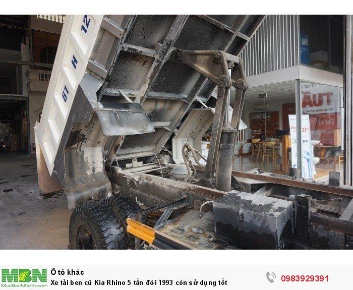 Xe tải ben cũ Kia Rhino 5 tấn đời 1993 còn sử dụng tốt 8