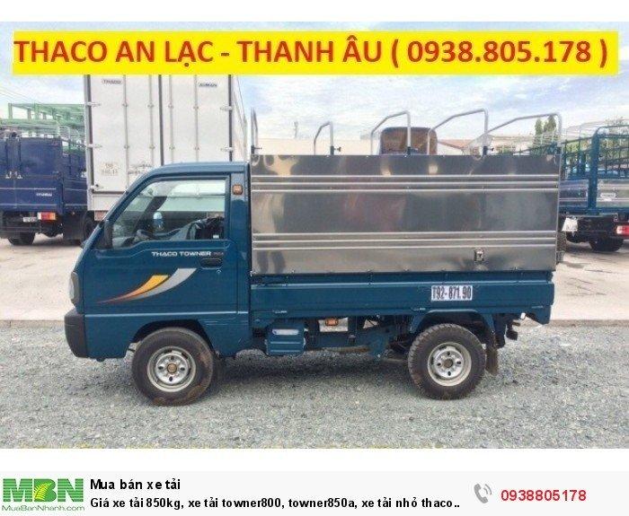 Giá xe tải 850kg, xe tải towner800, towner850a, xe tải nhỏ thaco trường hải, hỗ trợ trả góp 75% giá trị xe. 3