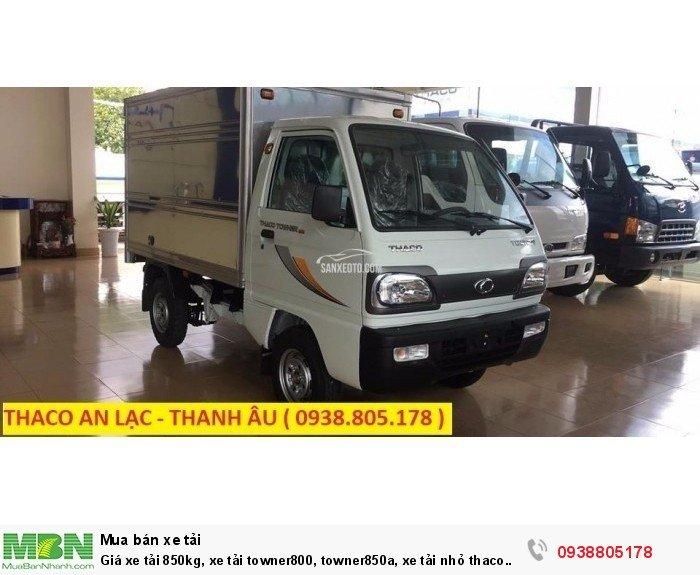 Giá xe tải 850kg, xe tải towner800, towner850a, xe tải nhỏ thaco trường hải, hỗ trợ trả góp 75% giá trị xe. 4