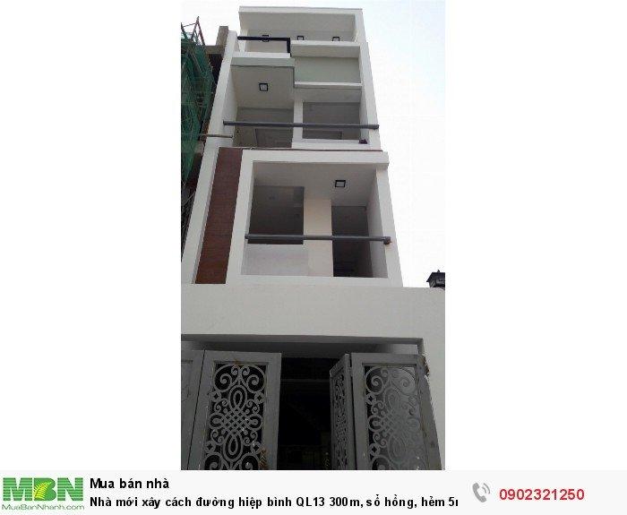 Nhà mới xây cách đường hiệp bình QL13 300m, sổ hồng, hẻm 5m, giá 2.8tỷ/60m2/3 lầu