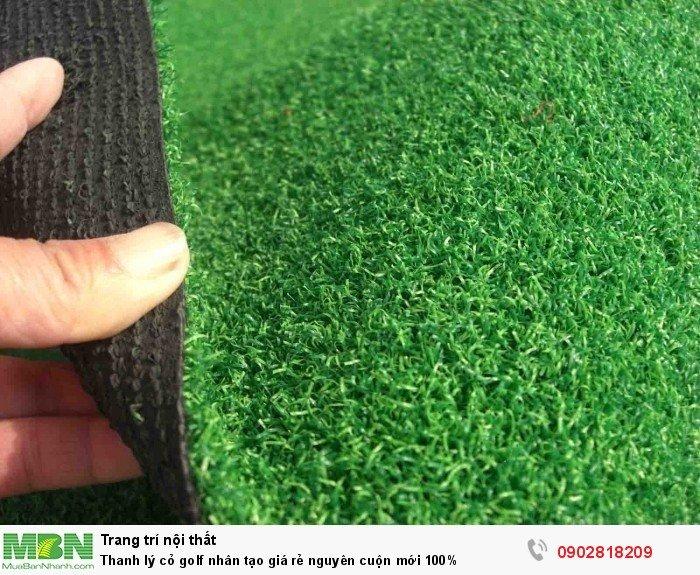 Thanh lý cỏ golf nhân tạo giá rẻ nguyên cuộn mới 100%5