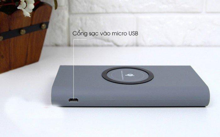 Pin sạc dự phòng không dây 10000mAh kiểu dáng gọn nhẹ, tiện lợi, thuận tiện di chuyển, dành cho thiết bị điện thoại di động, máy tính bảng,...2