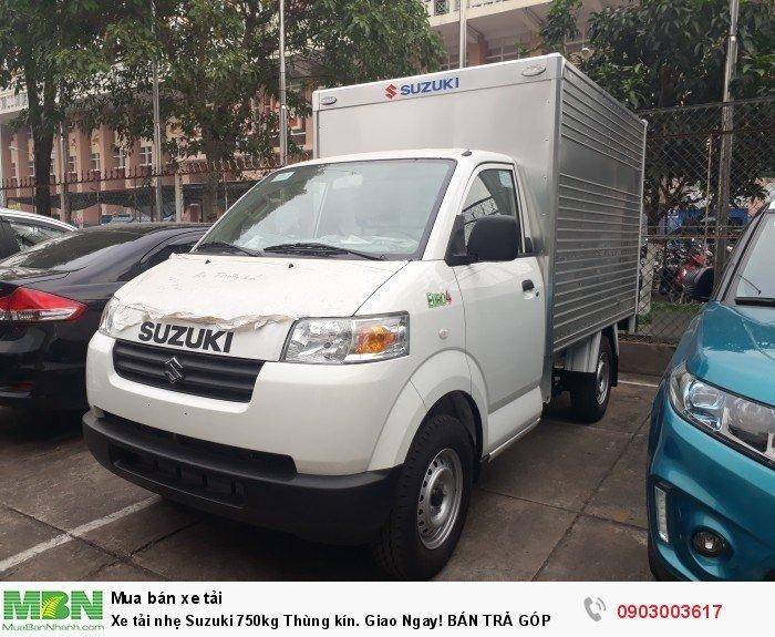 Xe tải nhẹ Suzuki 750kg Thùng kín. Giao Ngay! BÁN TRẢ GÓP