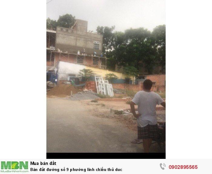 Bán đất đường số 9 phường Linh Chiểu Thủ Đức