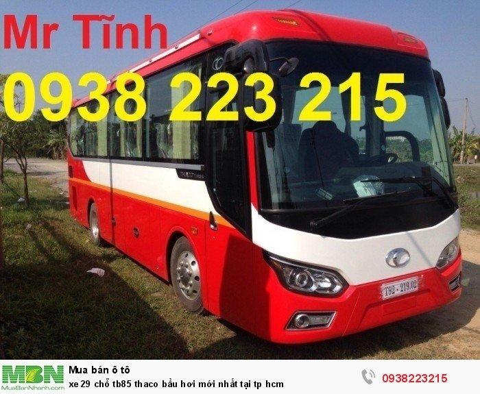 Xe 29 chỗ tb85 Thaco bầu hơi mới nhất tại tp HCM 8