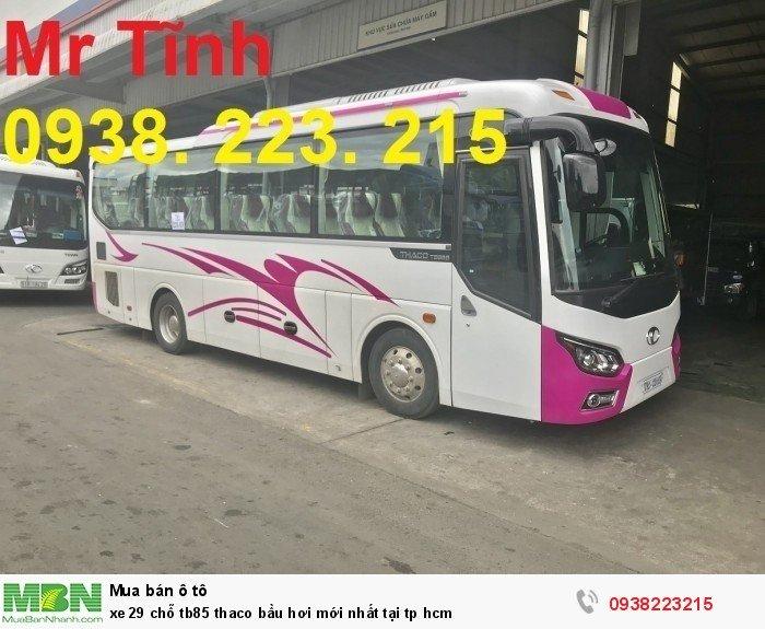 Xe 29 chỗ tb85 Thaco bầu hơi mới nhất tại tp HCM 9