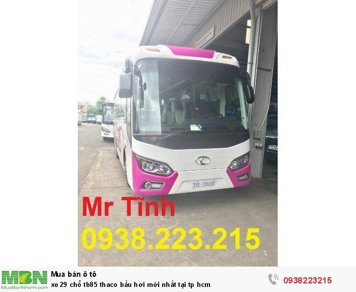 Xe 29 chỗ tb85 Thaco bầu hơi mới nhất tại tp HCM 10