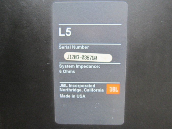 Loa JBL L5 (Made in USA)0